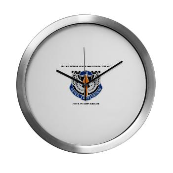 HHC166AB - M01 - 03 - HHC - 166th Aviation Brigade with Text - Modern Wall Clock