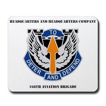 HHC166AB - M01 - 03 - HHC - 166th Aviation Brigade with Text - Mousepad