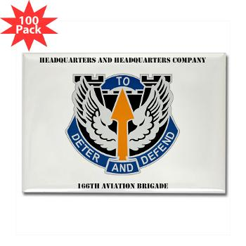 HHC166AB - M01 - 01 - HHC - 166th Aviation Brigade with Text - Rectangle Magnet (100 pack)