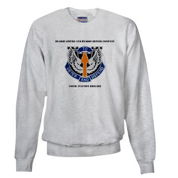 HHC166AB - A01 - 03 - HHC - 166th Aviation Brigade with Text - Sweatshirt