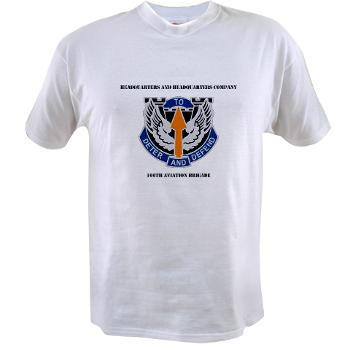 HHC166AB - A01 - 04 - HHC - 166th Aviation Brigade with Text - Value T-Shirt