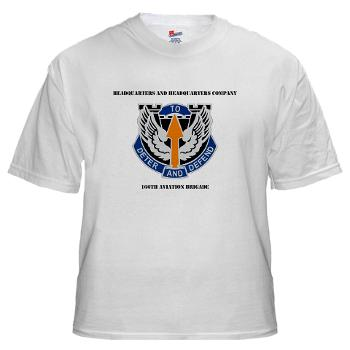 HHC166AB - A01 - 04 - HHC - 166th Aviation Brigade with Text - White T-Shirt