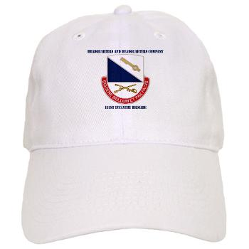 HHC181IB - A01 - 01 - DUI - HHC - 181 Infantry Bde with Text Cap