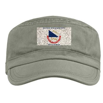HHC181IB - A01 - 01 - DUI - HHC - 181 Infantry Bde with Text Military Cap