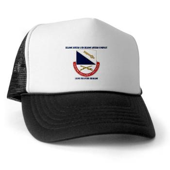 HHC181IB - A01 - 02 - DUI - HHC - 181 Infantry Bde with Text Trucker Hat
