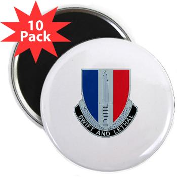 "HHC189IB - M01 - 01 - Headquarters and Headquarters Company - 189th Infantry Brigade - 2.25"" Magnet (10 pack)"
