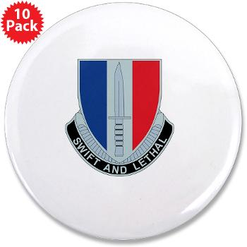 "HHC189IB - M01 - 01 - Headquarters and Headquarters Company - 189th Infantry Brigade - 3.5"" Button (10 pack)"