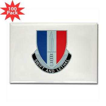 HHC189IB - M01 - 01 - Headquarters and Headquarters Company - 189th Infantry Brigade - Rectangle Magnet (100 pack)