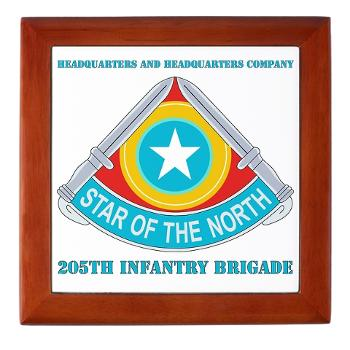 HHC205IB - M01 - 03 - HHC - 205th Infantry Brigade with text - Keepsake Box