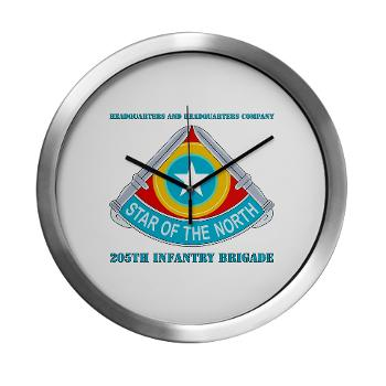 HHC205IB - M01 - 03 - HHC - 205th Infantry Brigade with text - Modern Wall Clock