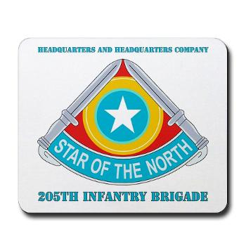 HHC205IB - M01 - 03 - HHC - 205th Infantry Brigade with text - Mousepad