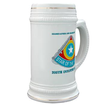 HHC205IB - M01 - 03 - HHC - 205th Infantry Brigade with text - Stein
