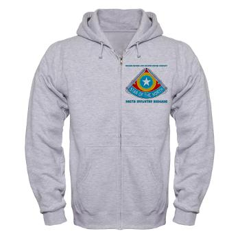 HHC205IB - A01 - 03 - HHC - 205th Infantry Brigade with text - Zip Hoodie