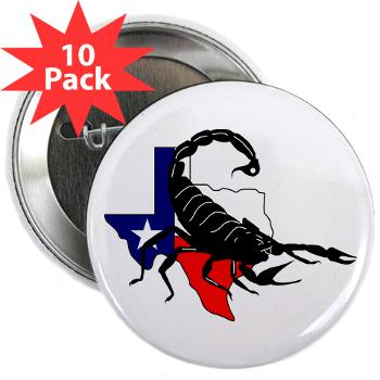 "HRB - M01 - 01 - DUI - Houston Recruiting Battalion - 2.25"" Button (10 pack)"