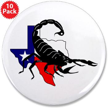 "HRB - M01 - 01 - DUI - Houston Recruiting Battalion - 3.5"" Button (10 pack)"