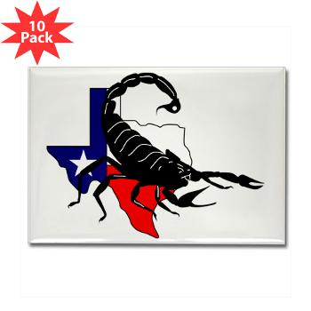 HRB - M01 - 01 - DUI - Houston Recruiting Battalion - Rectangle Magnet (10 pack)