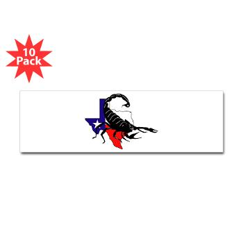 HRB - M01 - 01 - DUI - Houston Recruiting Battalion - Sticker (Bumper 10 pk)
