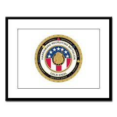 HRB - M01 - 02 - DUI - Harrisburg Recruiting Battalion - Large Framed Print