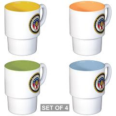 HRB - M01 - 03 - DUI - Harrisburg Recruiting Battalion - Stackable Mug Set (4 mugs)