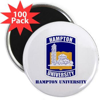 "HU - M01 - 01 - ROTC - Hampton University with Text - 2.25"" Magnet (100 pack)"