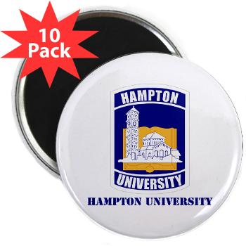 "HU - M01 - 01 - ROTC - Hampton University with Text - 2.25"" Magnet (10 pack)"