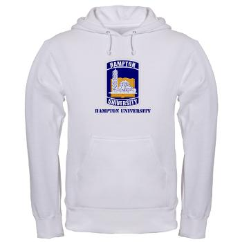 HU - A01 - 03 - ROTC - Hampton University with Text - Hooded Sweatshirt