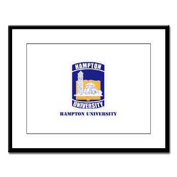HU - M01 - 02 - ROTC - Hampton University with Text - Large Framed Print