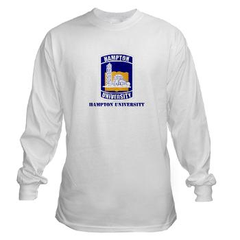 HU - A01 - 03 - ROTC - Hampton University with Text - Long Sleeve T-Shirt