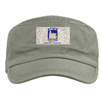 HU - A01 - 01 - ROTC - Hampton University with Text - Military Cap