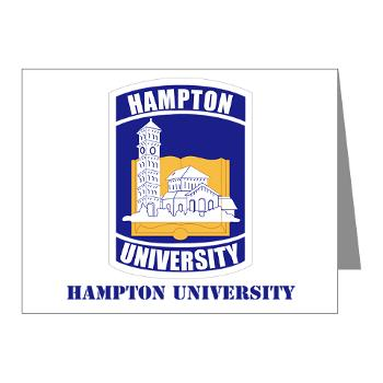 HU - M01 - 02 - ROTC - Hampton University with Text - Note Cards (Pk of 20)