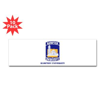 HU - M01 - 01 - ROTC - Hampton University with Text - Sticker (Bumper 10 pk)