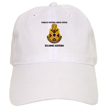 HWOCC - A01 - 01 - DUI - Warrant Officer Career Center - Headquarters with Text - Cap