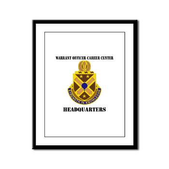 HWOCC - M01 - 02 - DUI - Warrant Officer Career Center - Headquarters with Text - Framed Panel Print