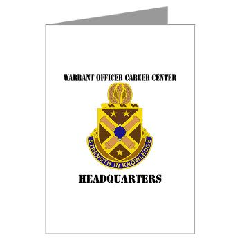 HWOCC - M01 - 02 - DUI - Warrant Officer Career Center - Headquarters with Text - Greeting Cards (Pk of 20)