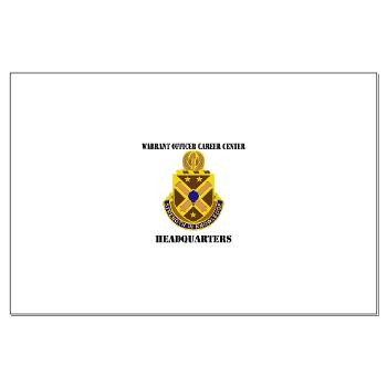 HWOCC - M01 - 02 - DUI - Warrant Officer Career Center - Headquarters with Text - Large Poster