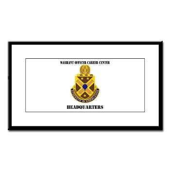 HWOCC - M01 - 02 - DUI - Warrant Officer Career Center - Headquarters with Text - Small Framed Print