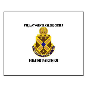 HWOCC - M01 - 02 - DUI - Warrant Officer Career Center - Headquarters with Text - Small Poster