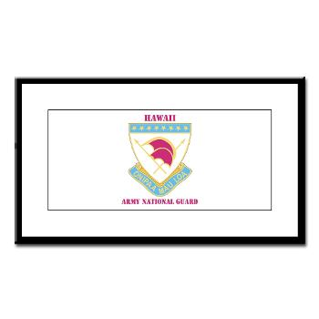 HawaiiARNG - M01 - 02 - DUI - Hawaii Army National Guard with Text - Small Framed Print