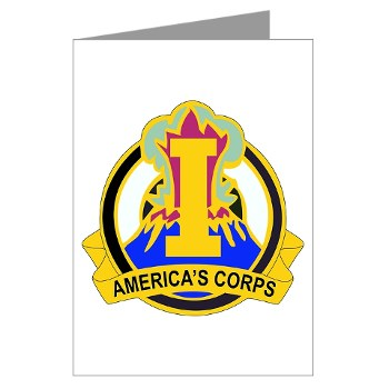 ICorps - M01 - 02 - DUI - I Corps Greeting Cards (Pk of 10)