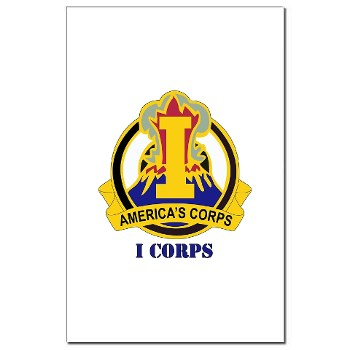 ICorps - M01 - 02 - DUI - I Corps with Text Mini Poster Print