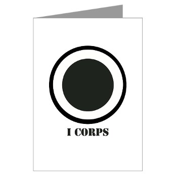 ICorps - M01 - 02 - SSI - I Corps with Text Greeting Cards (Pk of 10)