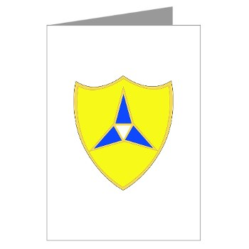 IIICorps - M01 - 02 - DUI - III Corps - Greeting Cards (Pk of 10)