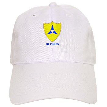 IIICorps - A01 - 01 - DUI - III Corps with text - Cap