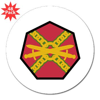 "IMCOM - M01 - 01 - SSI - Installation Management Command - 3"" Lapel Sticker (48 pk)"