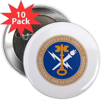 "INSCOM - M01 - 01 - SSI - U.S. Army Intelligence and Security Command (INSCOM) - 2.25"" Button (10 pack)"