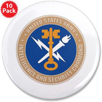 "INSCOM - M01 - 01 - SSI - U.S. Army Intelligence and Security Command (INSCOM) - 3.5"" Button (10 pack)"