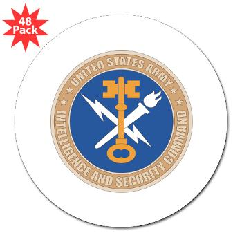 "INSCOM - M01 - 01 - SSI - U.S. Army Intelligence and Security Command (INSCOM) - 3"" Lapel Sticker (48 pk)"