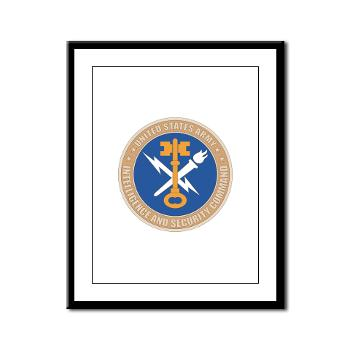 INSCOM - M01 - 02 - SSI - U.S. Army Intelligence and Security Command (INSCOM) - Framed Panel Print