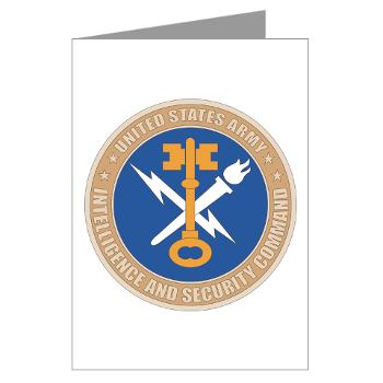INSCOM - M01 - 02 - SSI - U.S. Army Intelligence and Security Command (INSCOM) - Greeting Cards (Pk of 10)