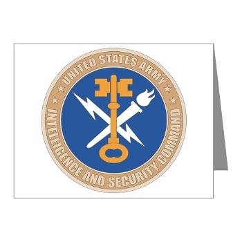 INSCOM - M01 - 02 - SSI - U.S. Army Intelligence and Security Command (INSCOM) - Note Cards (Pk of 20)